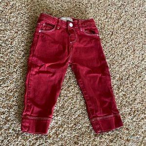NEVER WORN! Zara Baby Red Jeans 18-24 month